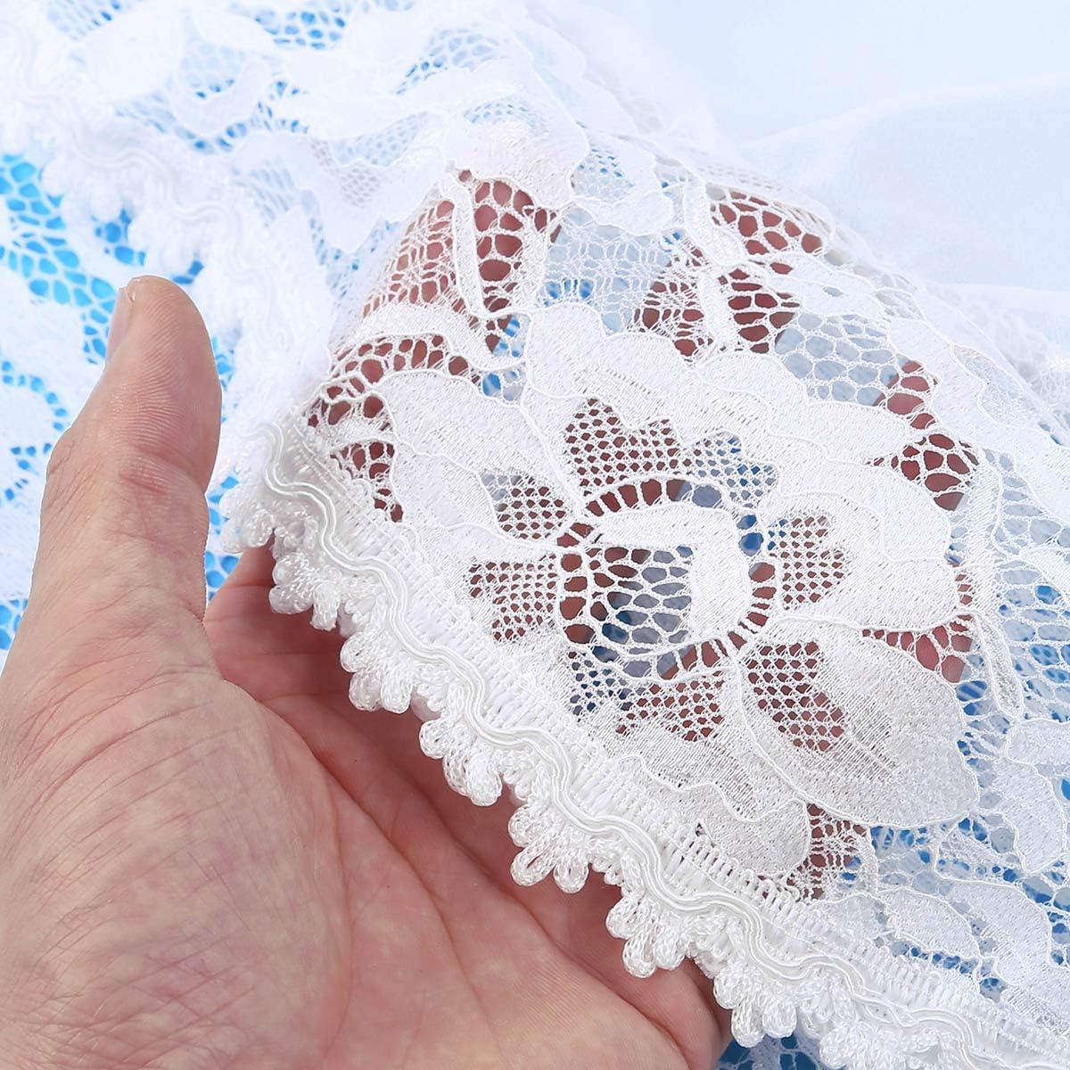 Freebily Cardigan Donna Corto Nero//Bianco Pizzo Floreale Bolero Elegante Cerimonia Maniche Corte in Chiffon Coprispalle Estivo per Sposa Appuntamento Festa Partito