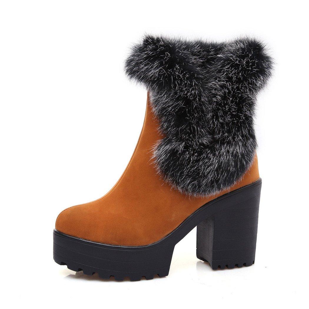 ZQ@QXHerbst und Winter runden Kopf wasserdicht Taiwan dick mit und hochhackigen Schuhe minimalistisch und mit vielseitig kurz und startet eine grosse Anzahl von weiblichen Stiefel  ROT e380cb