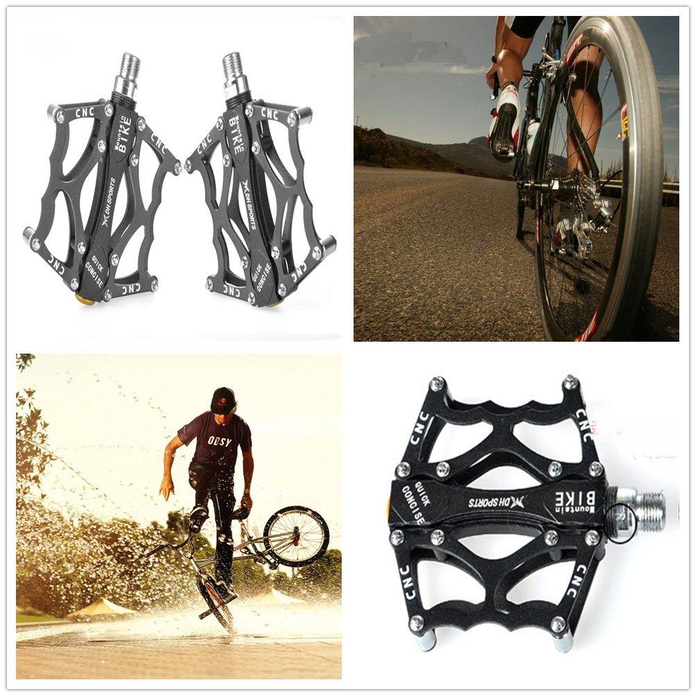 LARS360® - Pedales con plataforma, de 9/16 pulgadas, 4 colores, para bicicleta MTB, BMX o de descenso (2 unidades), Negro: Amazon.es: Deportes y aire libre