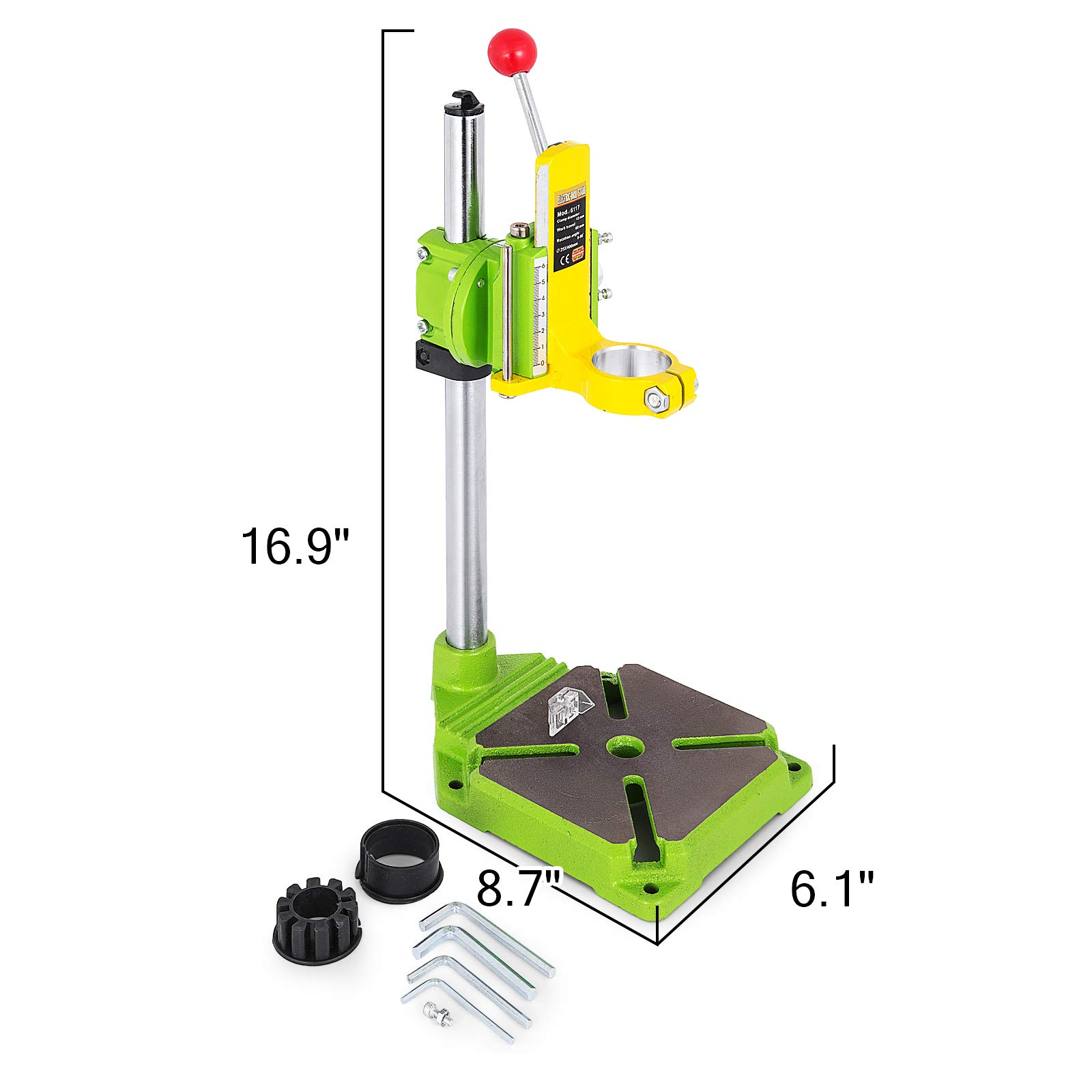 Happybuy Drill Press Stand 90 Degrees Rotary Drill Stand Holder 60mm Work Travel Repair Tool Clamp by Happybuy (Image #2)
