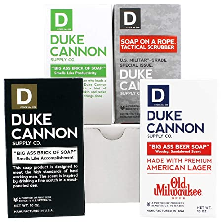 Duke Cannon El Guapo Variety Box for Men Big Brick of Soap and Tactical Soap Holder Gift Set, 4ct