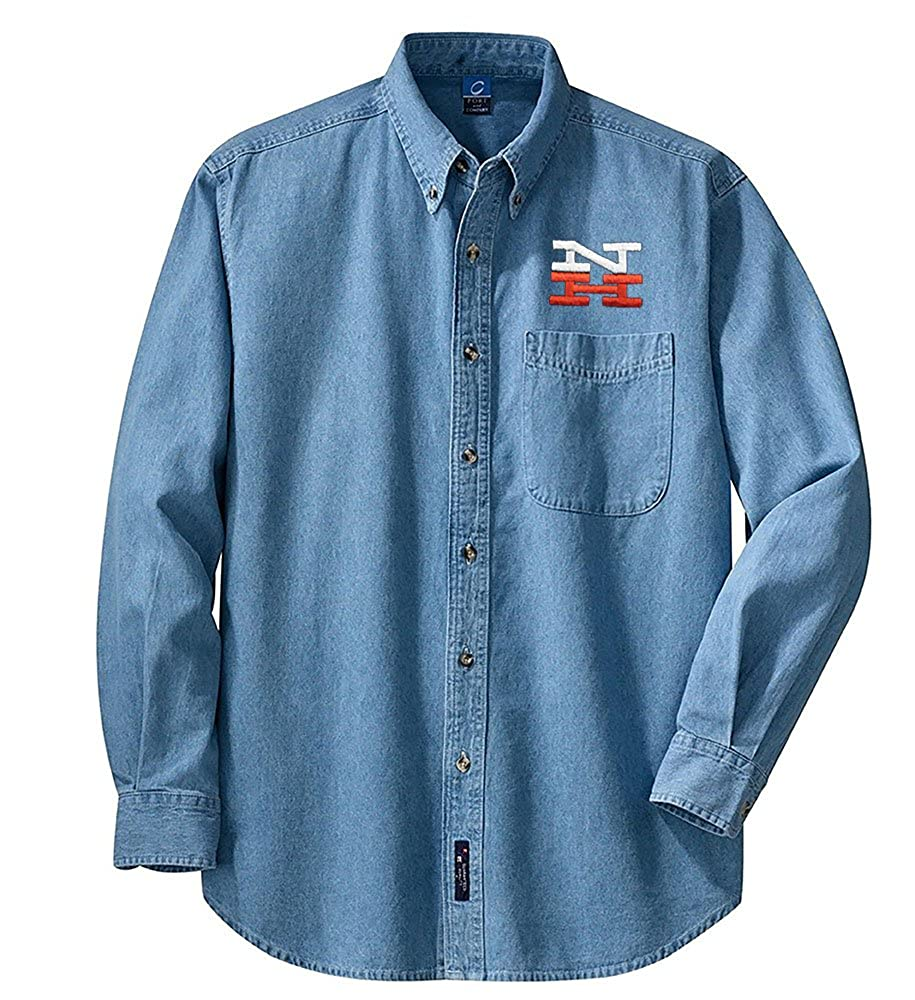 New Haven and Hartford Railroad Long Sleeve Embroidered Denim den37LS New York