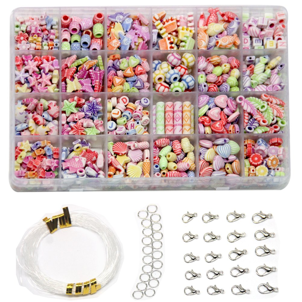 Ewparts Children DIY Bracelet Bead Art & Jewellery-Making , Bead string making set , Cultivate Color sensitive, Color will not Fade (Beads in bead colorful) Ewparts-002