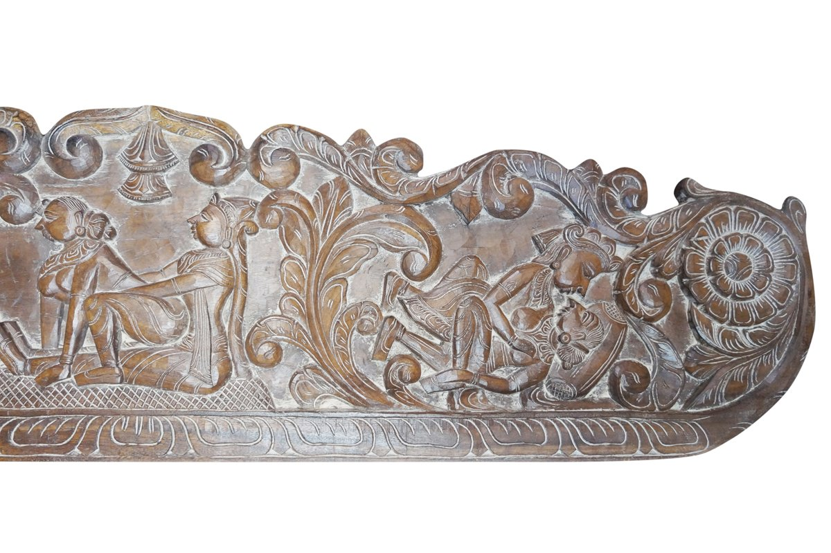 Vintage Carving Headboard Handcarved Kamasutra Love Hymn To Joy Of Life Interior Design by Mogul Interior (Image #4)