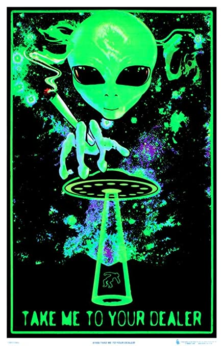 Amazoncom Take Me To Your Dealer College Blacklight Poster 24 X
