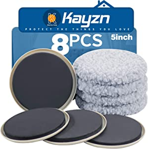 Kayzn Furniture Sliders Multi-Surface 2-in-1 Reusable Moving Pads for All Floor Types - 4 Pack 5