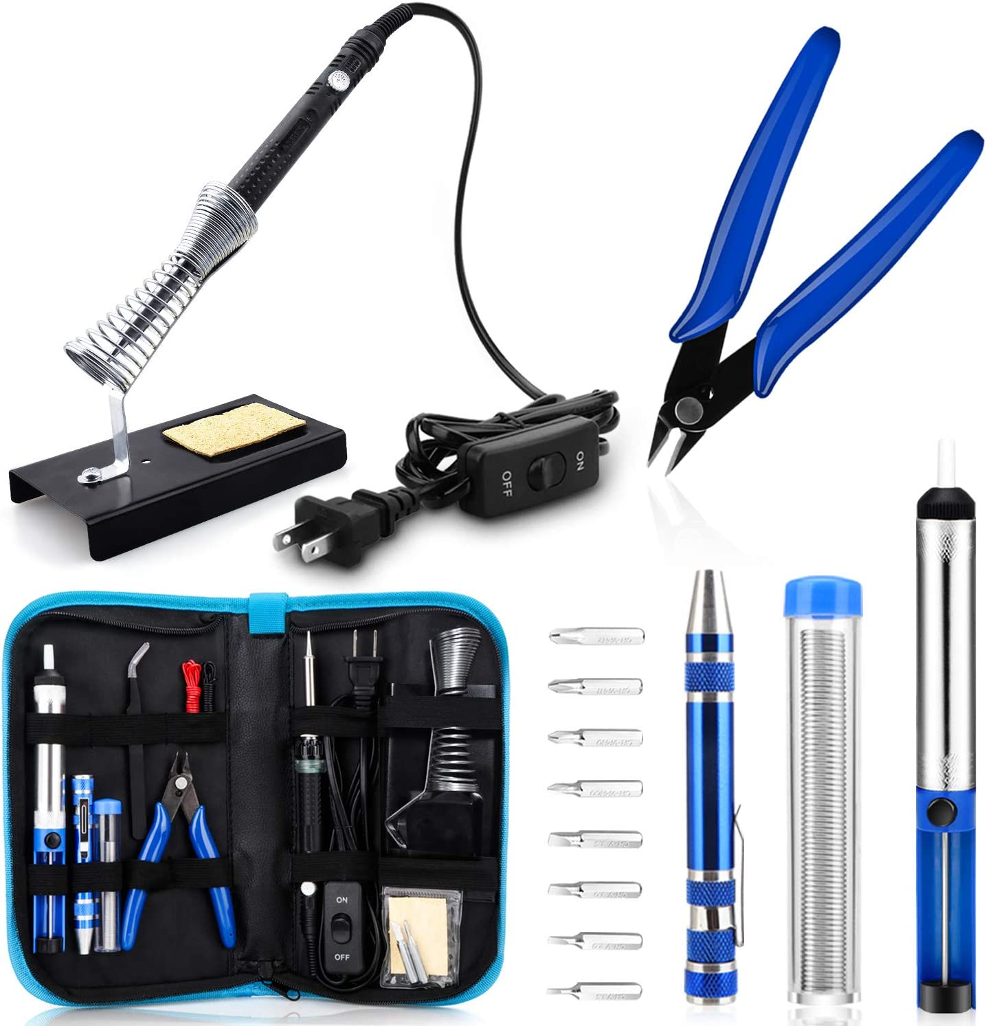 60W Adjustable Temperature Welding Tool Upgraded Anbes Soldering Iron Kit,