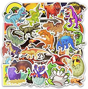 Honch Dinosaur Stickers Pack 50 Pcs Suitcase Stickers Vinyl Decals for Car Helmet Track Bumper Laptop Ipad Car Luggage Water Bottle