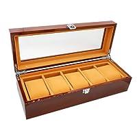 The perseids orologio Storage box display orologio di lusso con delicate Patterns Gentle interno in pelle sintetica per 12 orologi gioielli di stoccaggio organizzatore