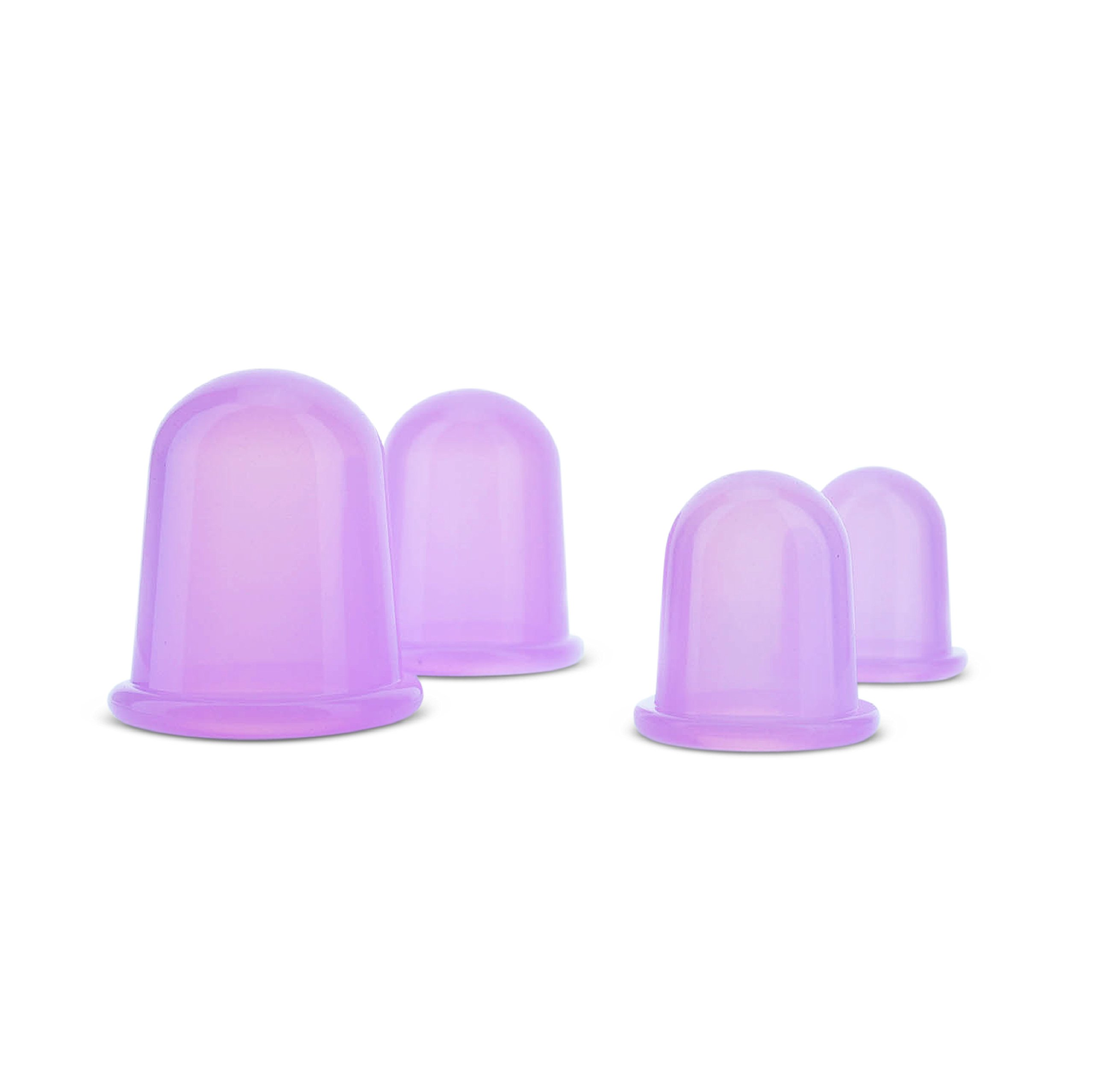 Derma Medico Silicone Body Massage Cups for Natural Cupping Therapy – Gift Box of 4 Cups: 2 Large + 2 Medium Cups with FREE Storage Bag and Instructions – Anti Cellulite Vacuum, Helps with Stretch Marks, Relieves Muscle Pain – Promotes Rela