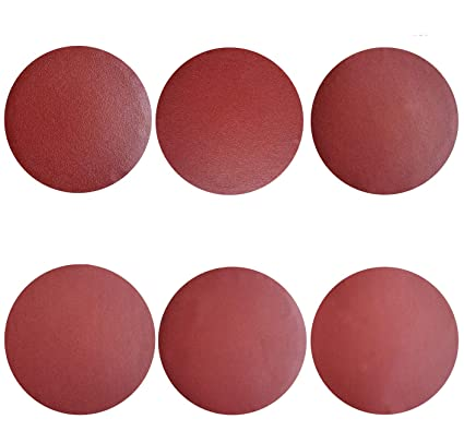 Sackorange 18 PCS 12-Inch NO-Hole PSA Aluminum Oxide Sanding Disc 3 Each of 80 100 120 180 240 400 Self Stick