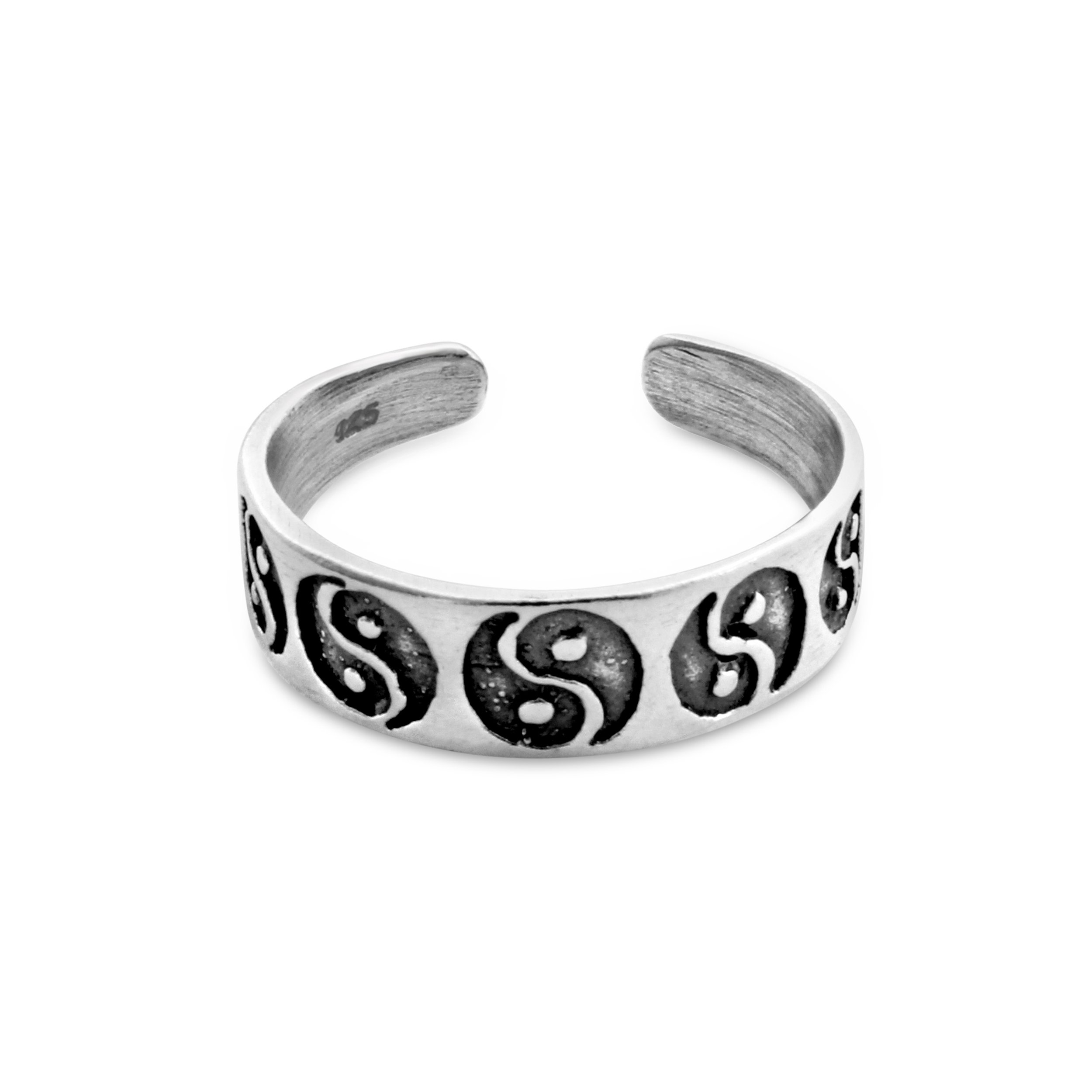 Belcho USA Sterling Silver Handcrafted Ying Yang Adjustable Handcrafted Toe Ring (Sterling-Silver) by Belcho USA