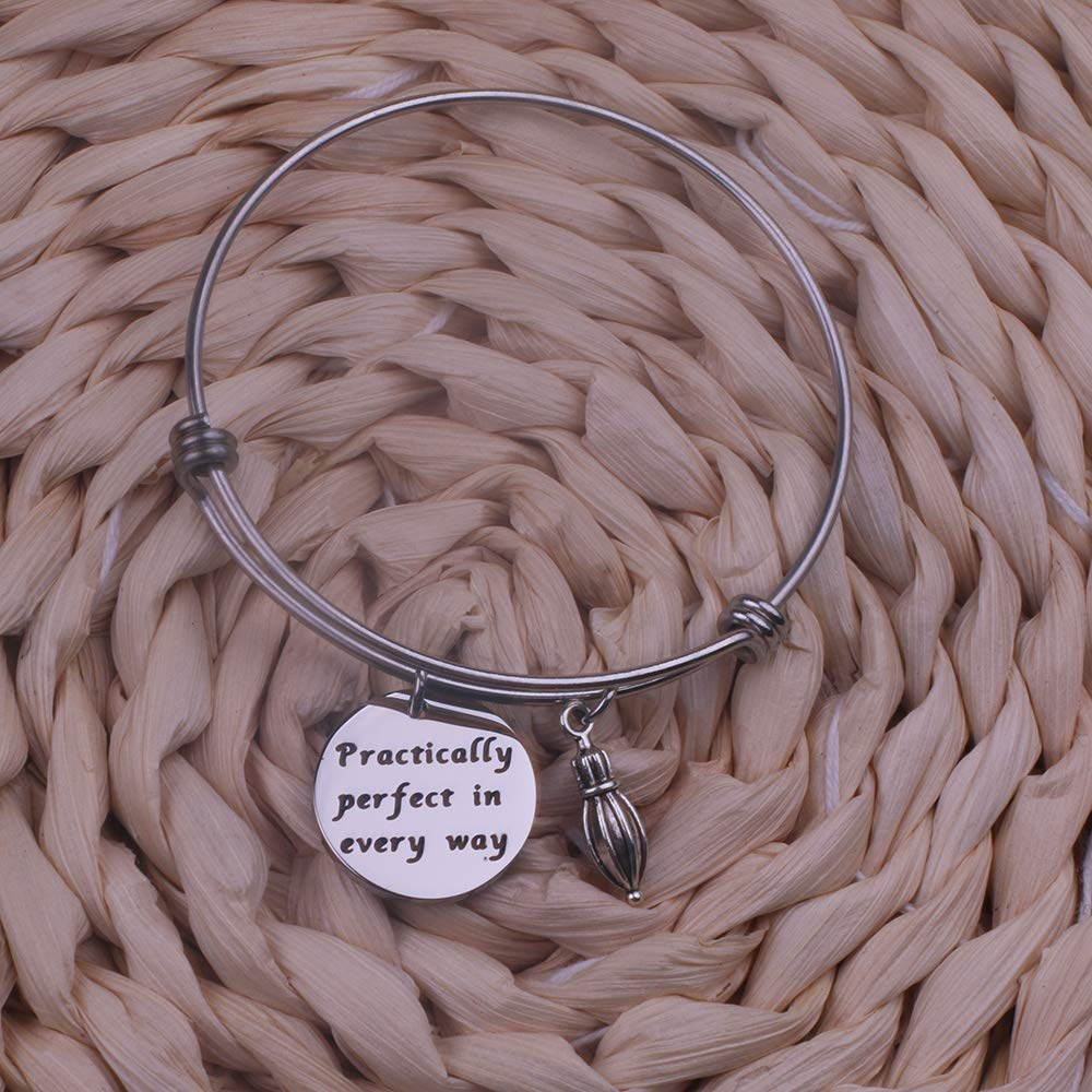 Anlive Practically Perfect in Every Way Bracelet Mary Poppins Expandable Wire Bangle