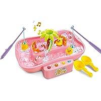 Vivir Kids Fish Catching Game with Flashing Lights and Musical Melodies (Pink)