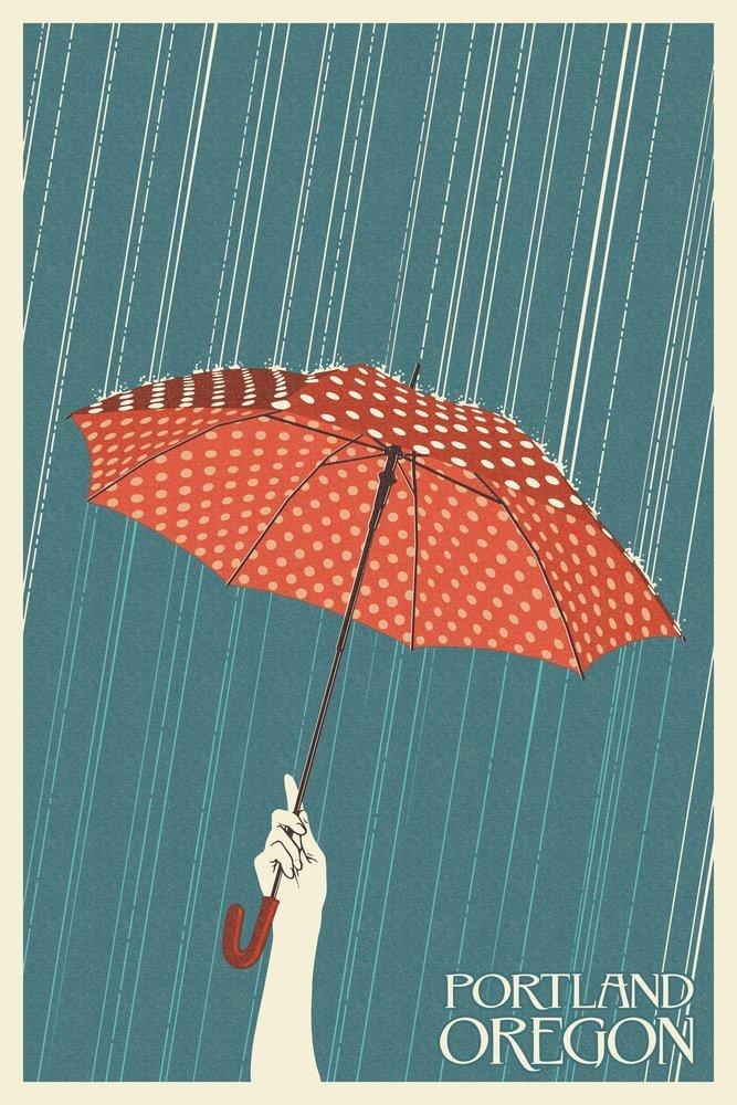 豪奢な Portland, 12 Oregon - Umbrella Letterpress - Letterpress (24x36 Giclee x Gallery Print, Wall Decor Travel Poster) by Lantern Press B00N5C8RN2 12 x 18 Art Print 12 x 18 Art Print, 森口洋服店:0819aee9 --- kuoying.net