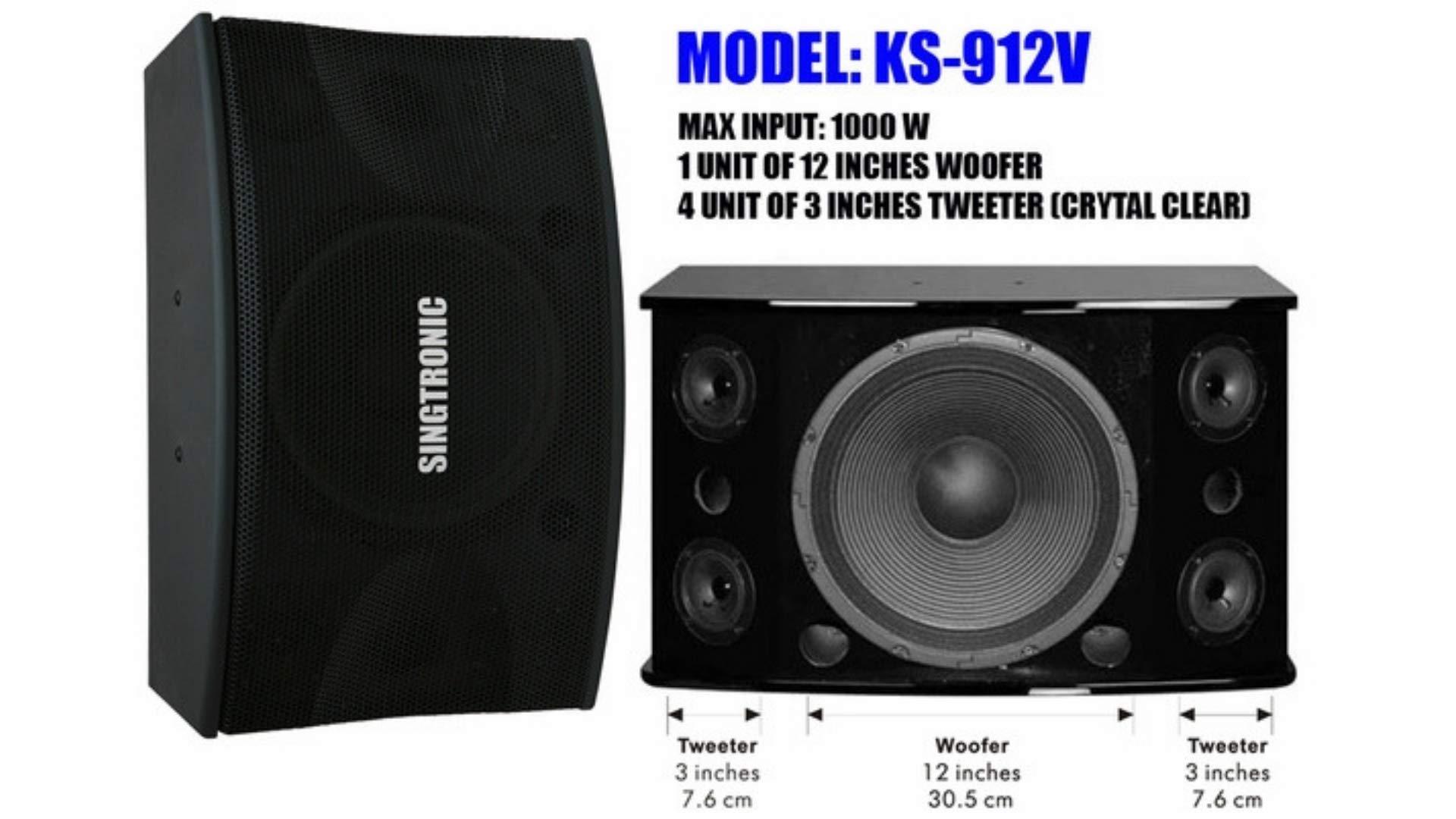 SINGTRONIC KS-912 Professional Vocalist 1000W Karaoke Speaker