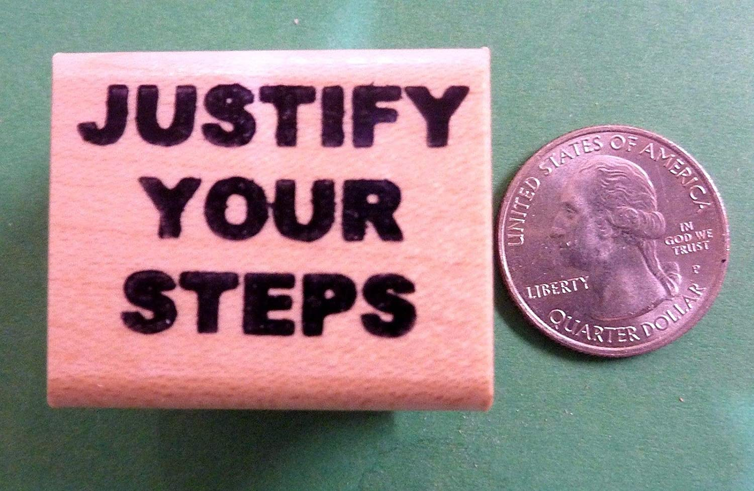 OutletBestSelling Justify Your Steps, Teacher's Wood Mounted ゴムスタンプ B07H4S7DRY