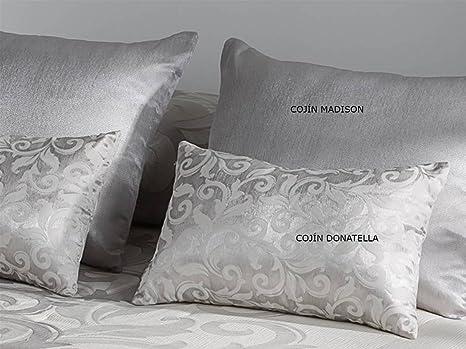 LaNovenaNube - Cojín DONATELLA 30x50 cm - Color Plata sin ...