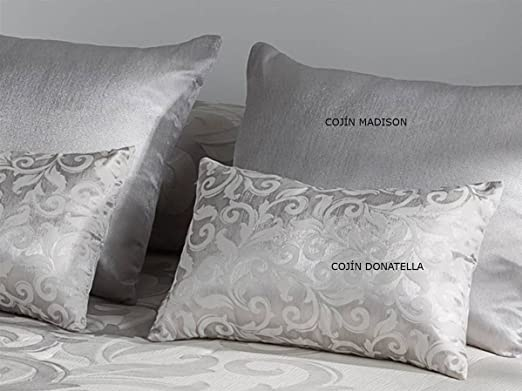 LaNovenaNube - Cojín DONATELLA 50x60 cm - Color Plata con ...
