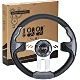 10L0L Universal Golf Cart Steering Wheel for Club Car DS & Precedent, EZGO RXV & TXT and Yamaha