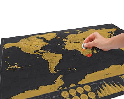 Club lane new deluxe travel edition scratch off world map poster club lane new deluxe travel edition scratch off world map poster personalized journal map gumiabroncs Images