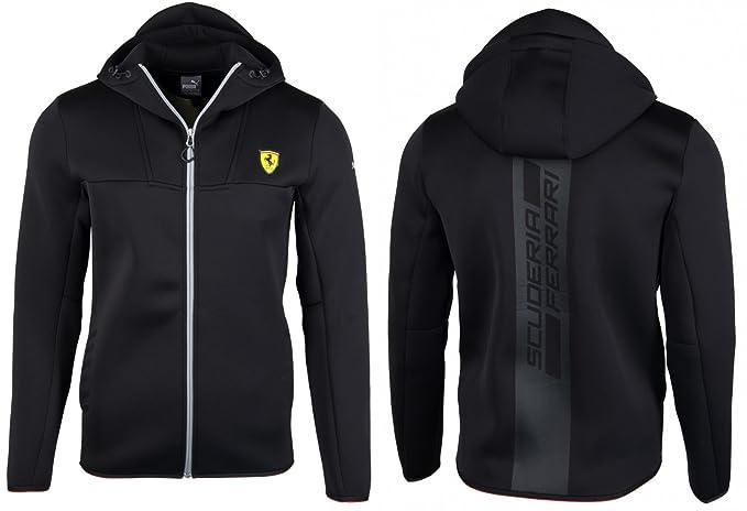 f660eb5858c4 Puma Mens FERRARI SF Soft Shell Neoprene Hooded Jacket In Black (Large)