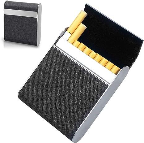 Caja de Cigarrillos, Pitillera de Acero Inoxidable, Ligero Funda ...
