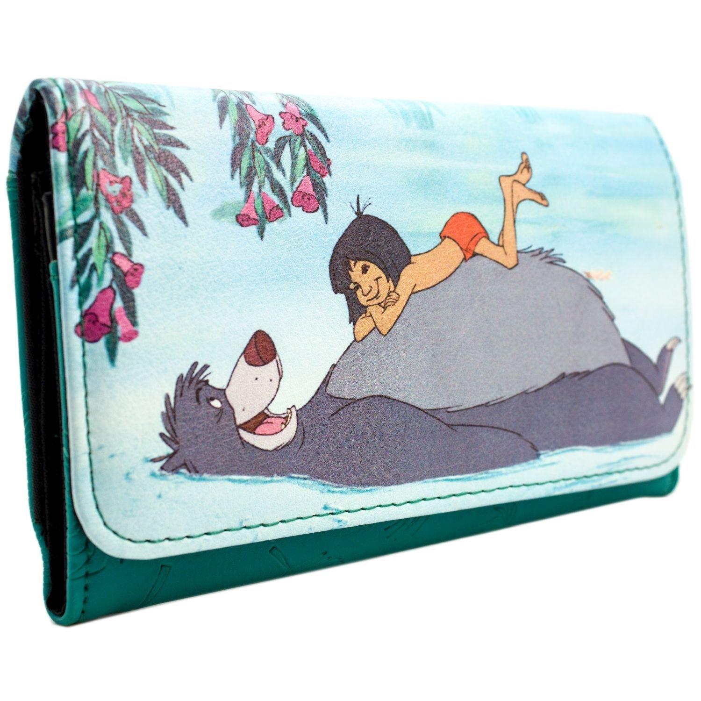 Disney Jungle Book Baloo & Mowgli Green Coin & Card Tri-Fold Purse 28782