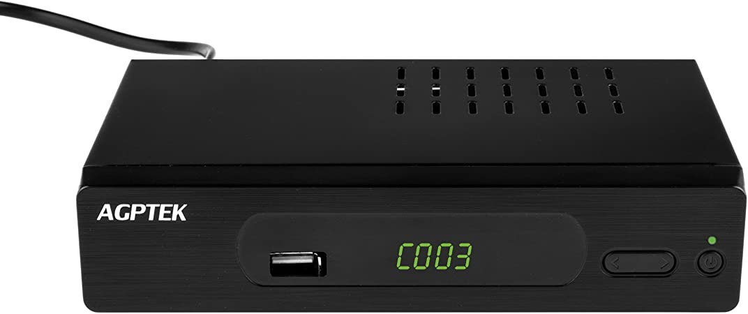 AGPTEK Sintonizador TDT, Full HD Receptor DVB T/T2 (HEVC H ...