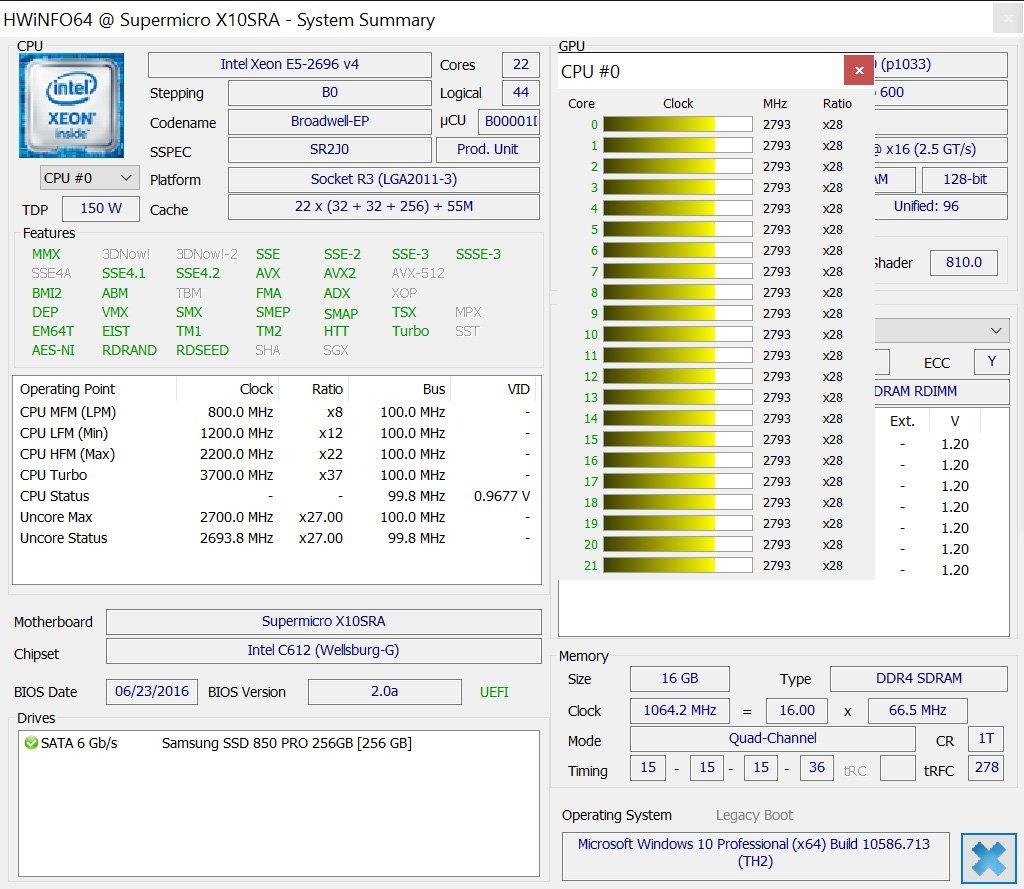 Intel CM8066002022506 Xeon E5-2699 v4 22-Core/44-Thread 55MB Cache 2.20GHz LGA2011 by Intel (Image #5)