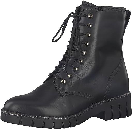 Tamaris Damen Schnürstiefelette 25232 21,Frauen Stiefel,Chukka Boot,Halbstiefel,Schnürboots,Bootie,Reißverschluss,Blockabsatz 3.5cm