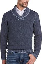 Joseph Abboud Shawl Collar Wool Blend Sweater