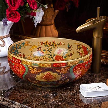 Antico Lavello In Ceramica.Cxjff Lavelli Da Appoggio In Ceramica In Stile Vintage In Europa Stile Antico Lavelli Da Appoggio In Porcellana For Lavabo In Ceramica Lavabo Da Bagno In Ceramica Antica Amazon It Casa E Cucina