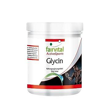 Glicina en polvo - GRANEL durante 5 meses - VEGANO - 500 g - polvo de glicina sin aditivos - ¡Calidad Alemana garantizada!