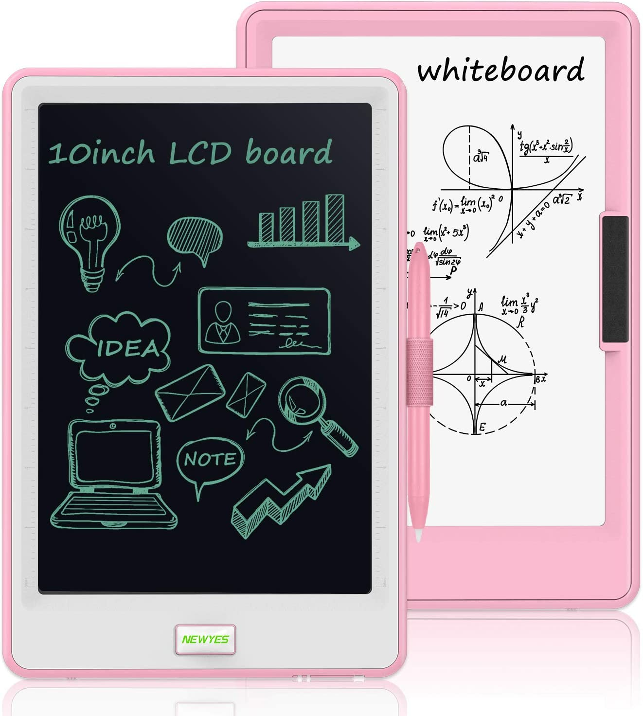 10 Inch LCD Writing Tablet, WOBEECO Electronic Drawing Tablet Kids Tablets Doodle Board Writing Pad for Kids and Adults at Home, School and Office with Lock Erase Button (Pink)