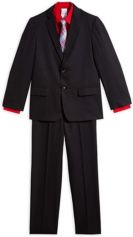 Boys 4-piece Dress Suit Red Blue Size 3T