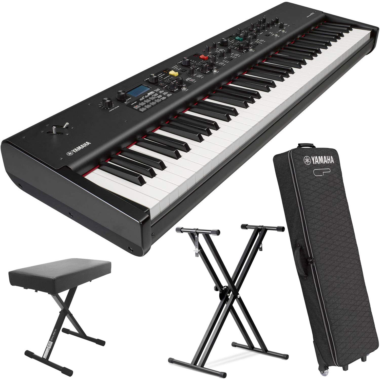 Yamaha CP73 73-Key Weighted Hammer Action Stage Piano (w/Sustain Pedal, Keyboard Stand & Soft Piano Case) by YamahaBundle