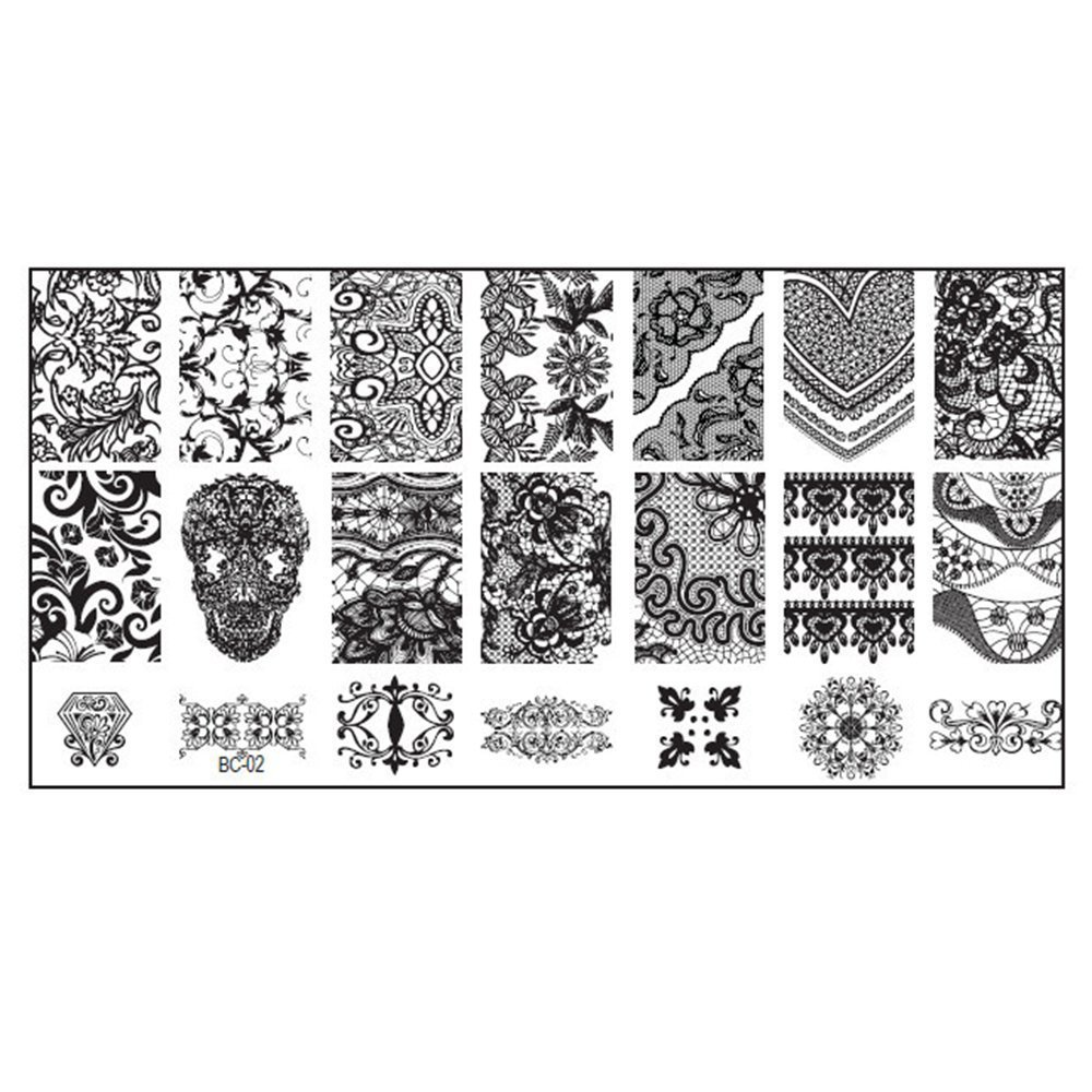 10 New Design DIY Nail Art Image Stamp Stamping Plates Manicure Template Tool DAEDALUS