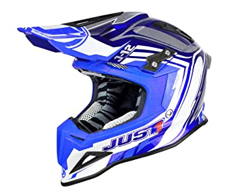 Just 1 Helmets J12 Casco de Motocross, Azul/Negro, L: Amazon.es: Coche y moto