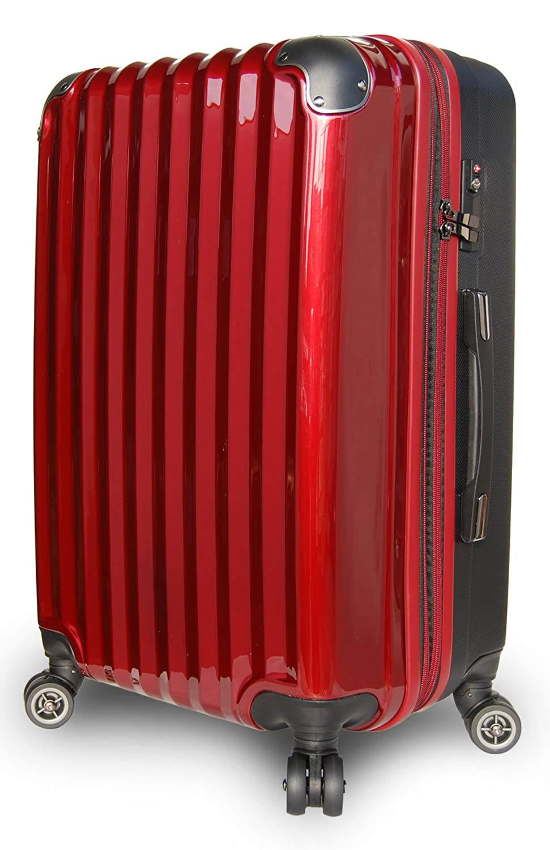 【JP Design】スーツケース 超軽量 拡張 ダブルキャスター 8輪 大型 キャリーケース キャリーバッグ B01MQPBIKQ LMサイズ( 64L~75L)|ワイン/BK ワイン/BK LMサイズ( 64L~75L)