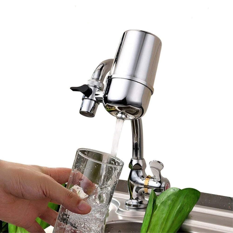QuietGuts Fortschrittlicher Wasserhahn Wasserfilter für Gesunde Wasserhähne Wasserfiltersystem Trinkwasserfilter Wasserfilter für Zuhause Küche – rostfrei