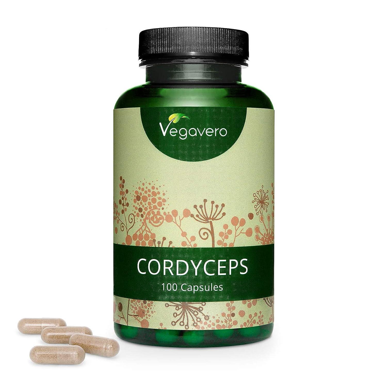 Cordyceps Vegavero® 5000 mg   Estandarizado a > 20% Polisacáridos (Betaglucanos)   100 Cápsulas   Hongos Medicinales + Tónico + Antiedad   Aminoácidos ...
