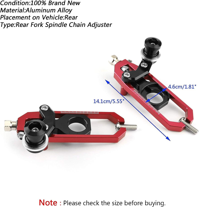 Artudatech Motorcycle Chain Adjusters Tensioners For Kawasaki Ninja ZX10R 2011-2016 Blue