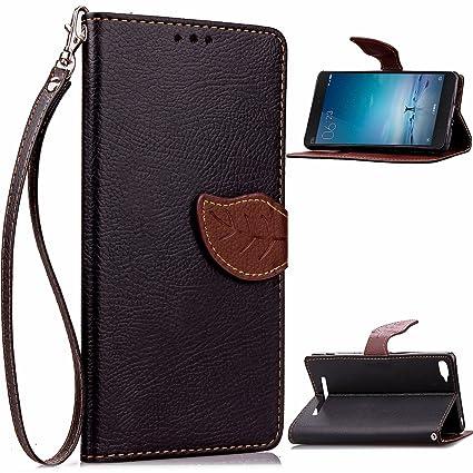 Compatible For Xiaomi Mi 4c Wallet Funda,Carcasa PU Leather Cuero Flip Cover Hoja Cierre Magnético Función de Soporte Billetera Libro Tarjetas Estuche ...