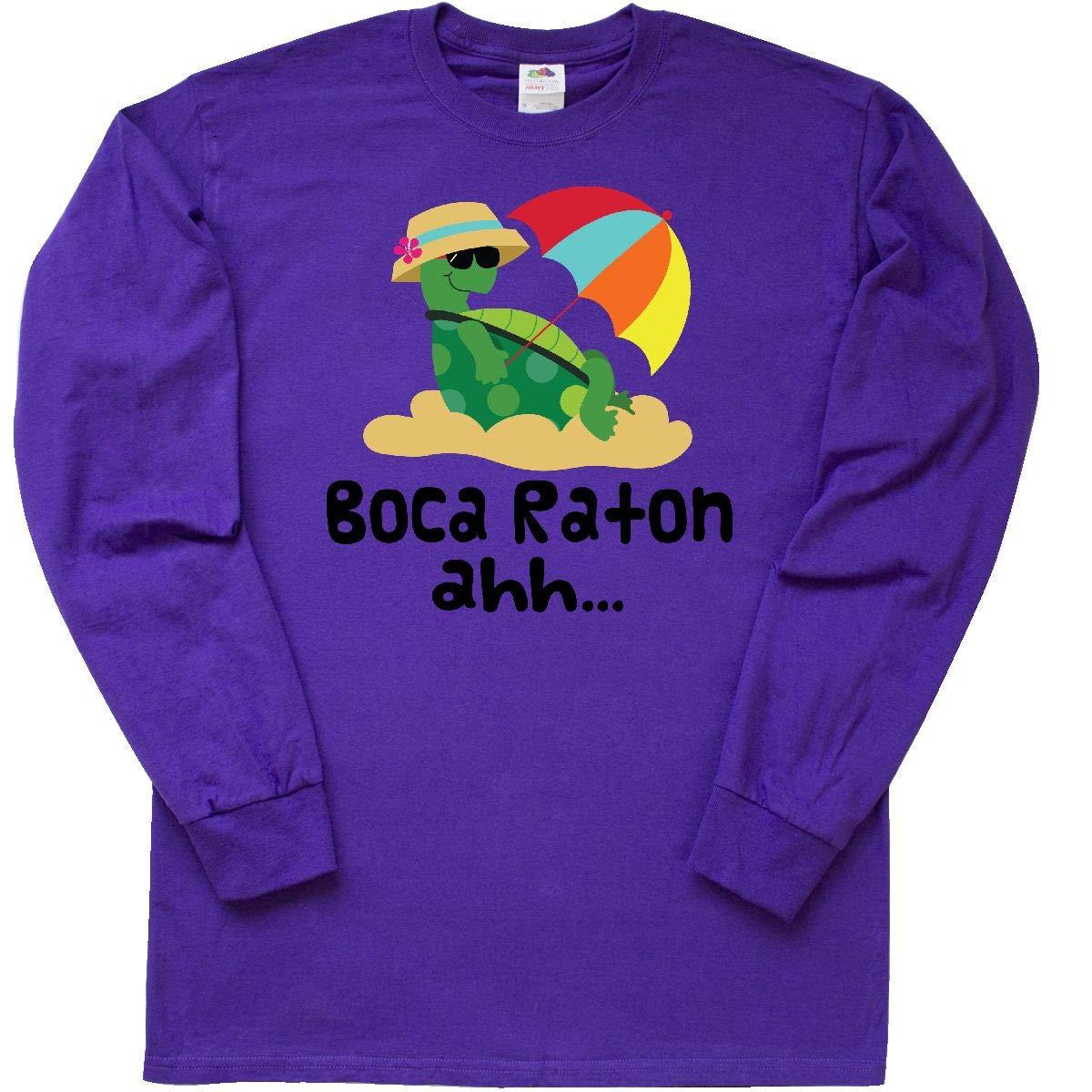 Amazon.com: inktastic Boca Raton Florida Long Sleeve T-Shirt ...