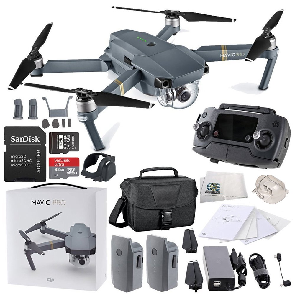DJI Mavic Pro Collapsible Quadcopter Travel Bag Essential Bundle by SSE