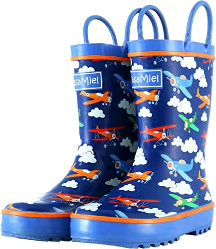 Handmade Natural Rubber Rain Boots for Children Botas para Ni/ños CasaMiel Toddler Rain Boots for Kids Unisex Kids Rain Boots for Boys and Girls