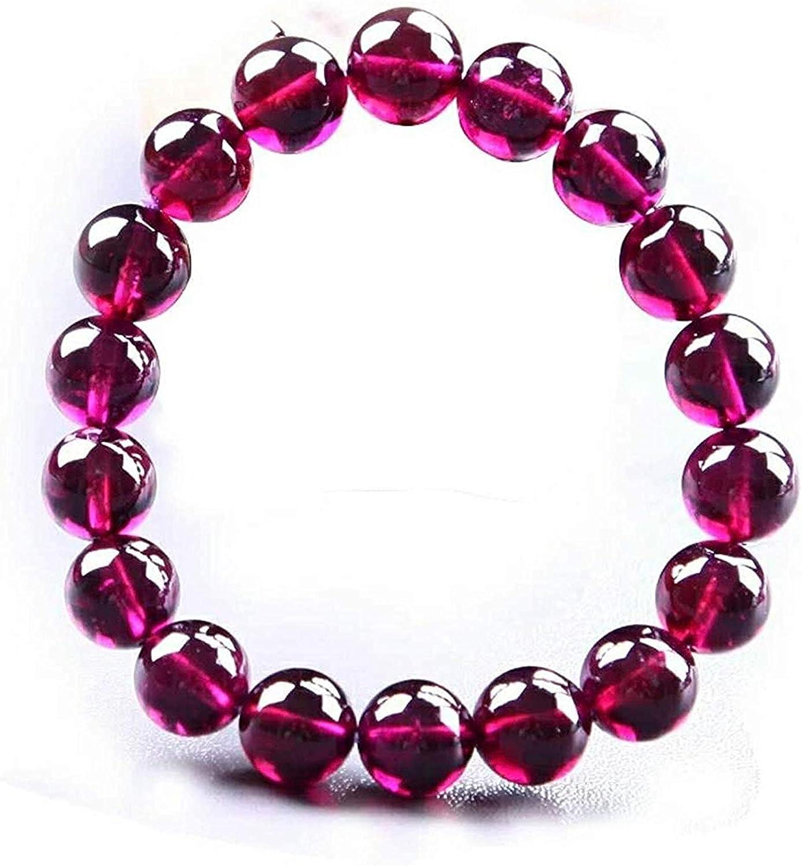 MENS or Womens BRACELETS Garnet Gemstones STRETCH