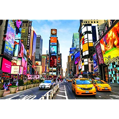 Jigsaw Puzzle 1000 Piece for Adults Kids Large Game,New York Times Square Scenery: Toys & Games