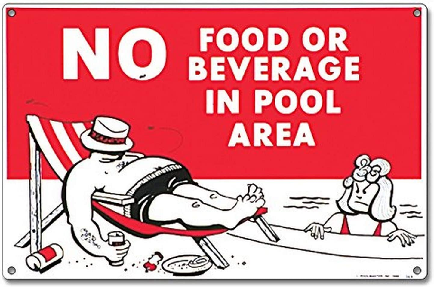 Poolmaster Sign for Residential or Commercial Swimming Pools, No Food or Beverage